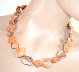 COLLANA PIETRE ORO ambra donna ragazza girocollo collier collar idea regalo L05