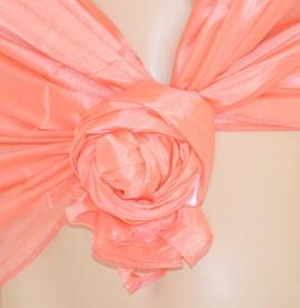MAXI STOLA donna CORALLO foulard damigella elegante cerimonia scialle coprispalle 300