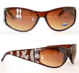 OCCHIALI da SOLE donna strass MARRONI lenti Elegante brillantini argento sexy mascherina sunglasses 45