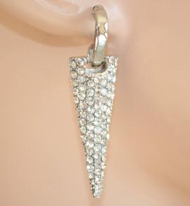 ORECCHINI ARGENTO donna STRASS cristalli brillantini pendenti silver pendants 840