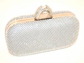 695c103e0a POCHETTE ARGENTO CRISTALLI borsello donna STRASS borsa borsetta clutch  ELEGANTE cerimonia E58