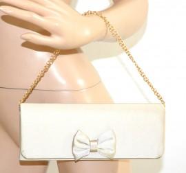 POCHETTE donna BEIGE borsello raso borsetta borsa elegante da sera da cerimonia E29