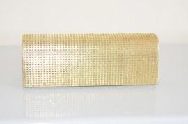 POCHETTE donna CERIMONIA borsello elegante borsa strass cristalli da sera ORO 93