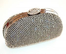 POCHETTE NERA donna CERIMONIA clutch CRISTALLI STRASS borsetta borsello elegante bag bolsa 85