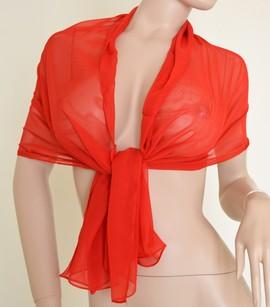 amazing selection discount sale no sale tax STOLA Coprispalle donna tinta unita ROSSA per abito da sera\cerimonia