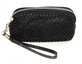 BORSELLO donna MINI pochette ragazza borsellino NERO da borsa  clutch bag da sera 1150