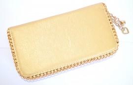 c011156a5e BORSELLO ORO PORTAFOGLIO pelle dorato Mini Pochette dorata Clutch  Borsellino oro 920B