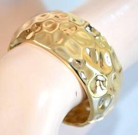 BRACCIALE oro donna RIGIDO a SCHIAVA dorato ragazza bracelet armband pulsera 950