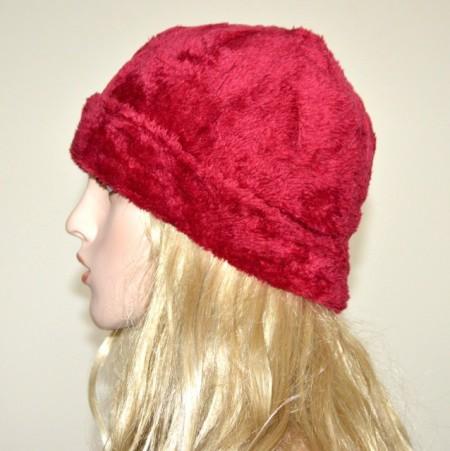 CAPPELLO ROSSO donna berretto eco pelliccia copricapo caldo inverno red hat G1