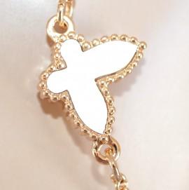 COLLANA ORO CIONDOLI donna catena anelli elegante dorata necklace collar 475