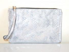 MINI BORSELLO ARGENTO donna portafoglio borsellino pochette tracolla a mano clutch bag E179