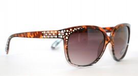 OCCHIALI DA SOLE donna MARRONE maculate leopardate lenti strass argentosunglasses 30