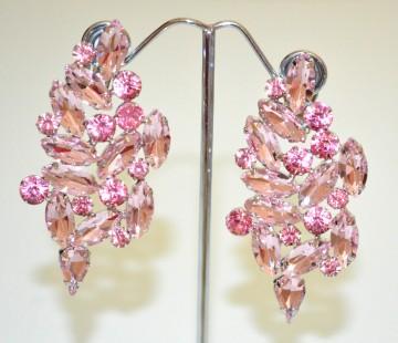 dc6f82aafe27 ORECCHINI CLIPS donna ROSA CIPRIA argento pendenti cristalli gocce strass  BB14