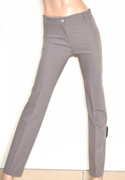PANTALONE BEIGE donna classico stile sartoriale elegante cerimonia trousers G81