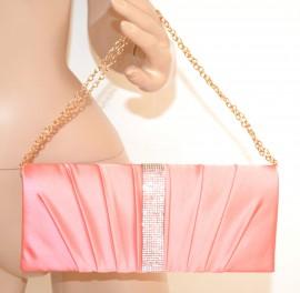 6983d5b639 POCHETTE donna ROSA CORALLO strass borsa borsello cerimonia damigella sac  E86