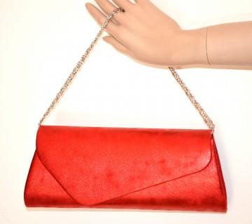 POCHETTE ROSSA borsello donna borsa borsetta clutch bag sfumature di colore G65