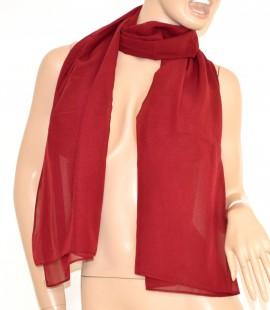 STOLA MAXI donna foulard AMARANTO coprispalle ELEGANTE SETA da cerimonia da sera 1030
