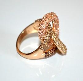 ANELLO oro dorato donna veretta strass ambra corallo bronzo fedina elegante A1
