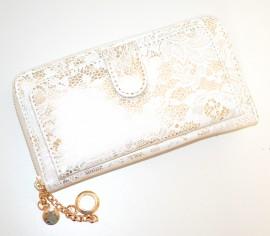 b804f02f32 Borsello donna pochette BIANCA ORO da sera ELEGANTE portafoglio dorato  clutch bag 1330