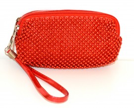 BORSELLO MINI  ROSSO elegante pochette donna borsellino da borsa ragazza clutch bag da sera 1150