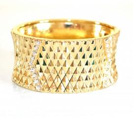 BRACCIALE donna ORO STRASS da cerimonia ELEGANTE con cristalli RIGIDO a schiava bracelet 860