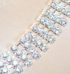CINTURA gioiello ARGENTO donna cristalli strass elegante da sposa damigella cerimonia CX4