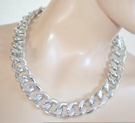 COLLANA donna argento catena girocollo ragazza collier sexy necklace collar E19