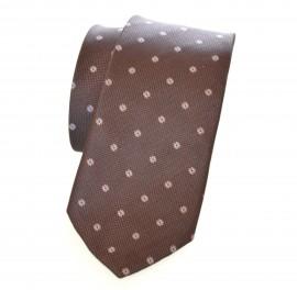 CRAVATTA MARRONE uomo da cerimonia tinta unita ELEGANTE raso Tie Cravate Lazo Laço 15