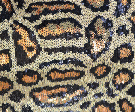MINIGONNA donna gonna corta oro dorata nera paillettes leopardata maculata B26