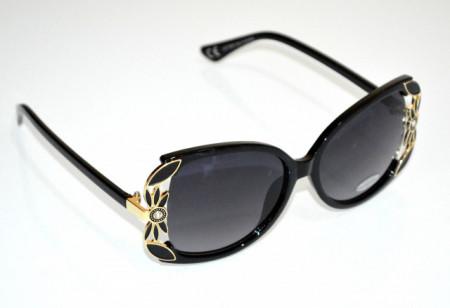 OCCHIALI da SOLE donna NERI ORO lenti ovali strass cristalli темные очки sunglasses BB25