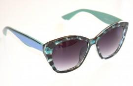 OCCHIALI da SOLE donna VERDE NERO MACULATO BLU AZZURRO lenti ovali lunettes E35