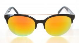 Occhiali da sole uomo nere lenti gialle rotonde man sunglasses gafas de sol Z5