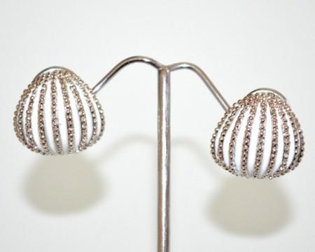ORECCHINI donna a CLIPS argento bianco bottone lobo cerchio ragazza pendientes CC153