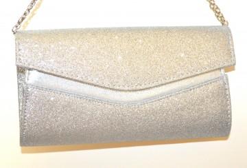 POCHETTE ARGENTO borsello donna borsa cerimonia clutch shimmer handbag G64