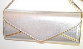 POCHETTE ARGENTO ORO donna dorata borsello borsa elegante da sera bag sac bolsa A44