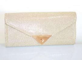 POCHETTE BORSELLO ORO borsa donna clutch bag brillantini elegante da cerimonia Z16