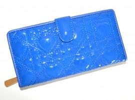 PORTAFOGLIO donna BORSELLO BLU Clutch bag pochette borsellino vernice pvc 15