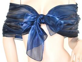 Stola Coprispalle donna blu metallizzato elegante per abito da sera\cerimonia