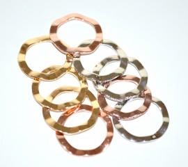 ANELLO donna SET 9 ANELLI argento oro giallo\rosa ondulati eleganti da cerimonia ring anillo 30