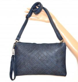 BORSELLO BLU borsa donna chiodini borchie grigio eco pelle tracolla sac bag A22