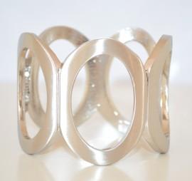 BRACCIALE donna RIGIDO a SCHIAVA sexy elegante ARGENTO SATINATO acciaio bracelet 20X