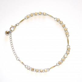 CAVIGLIERA donna cristalli argento strass brillantini bianco sexy gioiello mare estivo 10C