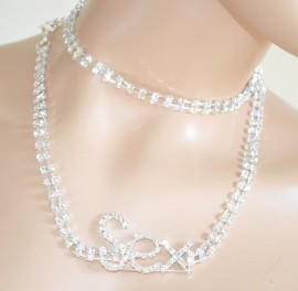 CINTURA GIOIELLO  ARGENTO donna elegante strass CRISTALLI stringivita sexy idea regalo belt 525