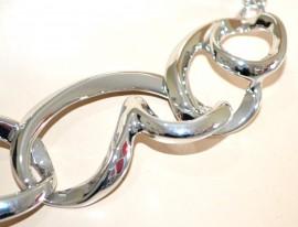 COLLANA girocollo argento cuori catena collier cerimonia san valentino naszyjnik G22