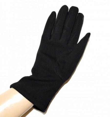 GUANTI NERI donna velluto eleganti invernali caldi gloves hansker Handschuhe G3
