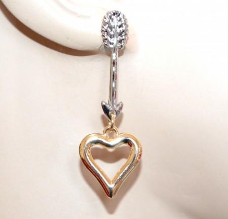 ORECCHINI ciondoli cuori argento oro dorato donna pendenti san valentino boucles GP24