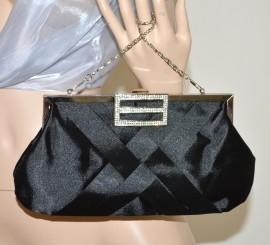 3ff43a50f4 POCHETTE donna borsello borsa nera da cerimonia clutch bag strass\brillantini  elegante bolsa 81