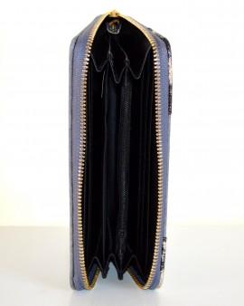 PORTAFOGLIO donna GRIGIO ORO borsello portamonete borsellino clutch bag idea regalo A16