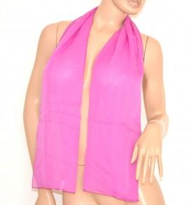 STOLA donna foulard COPRISPALLE sciarpa elegante trasparente tinta unita seta glicine velo da cerimonia 165D