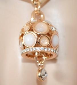 BRACCIALE donna oro ciondolo dorato elegante cristalli strass brillantini bracelet G48